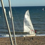 New Boat on the beach - Laser 4000